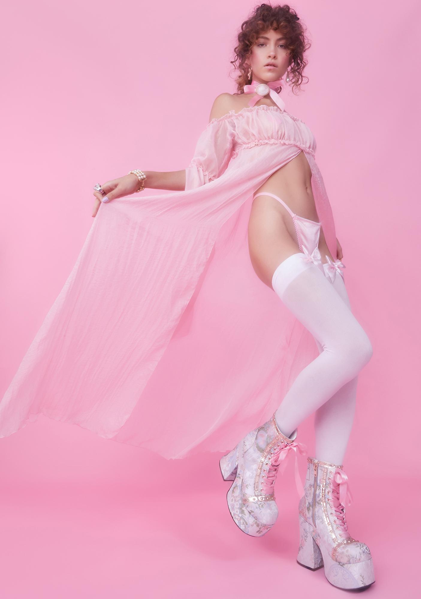 Sugar Thrillz Heiress Attitude Chiffon Maxi Dress And Panty Set