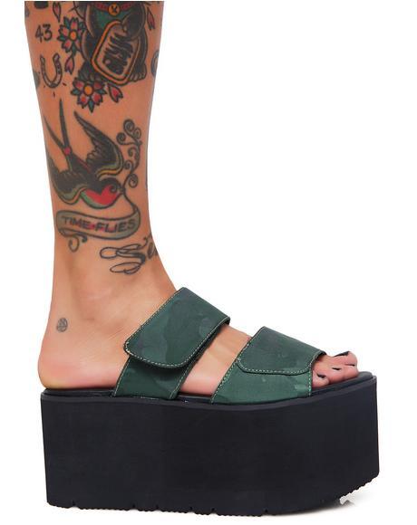 Tyra Velcro Strap Platforms