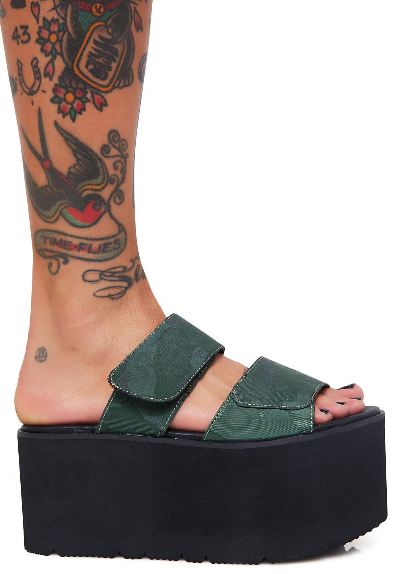 Public Desire Tyra Velcro Strap Platforms