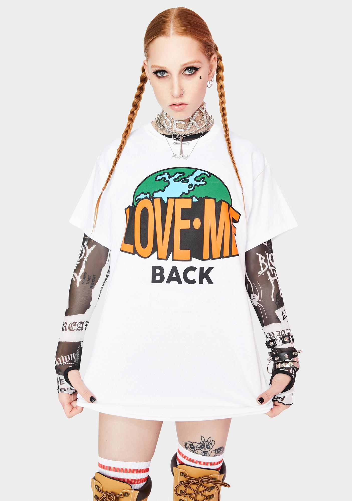 Petals and Peacocks Earth Love Back Graphic Tee
