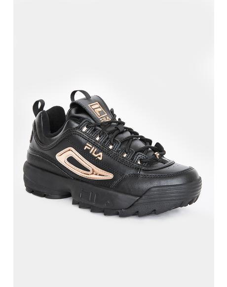 Black Disruptor 2 Metallic Accent Sneakers
