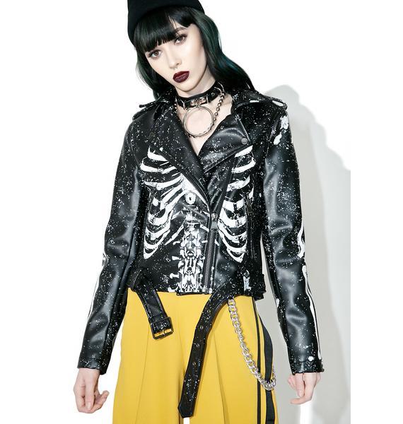 Killstar Gimme Bones Biker Jacket