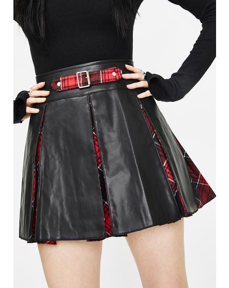 Multi-Piece Stitching Half Skirt