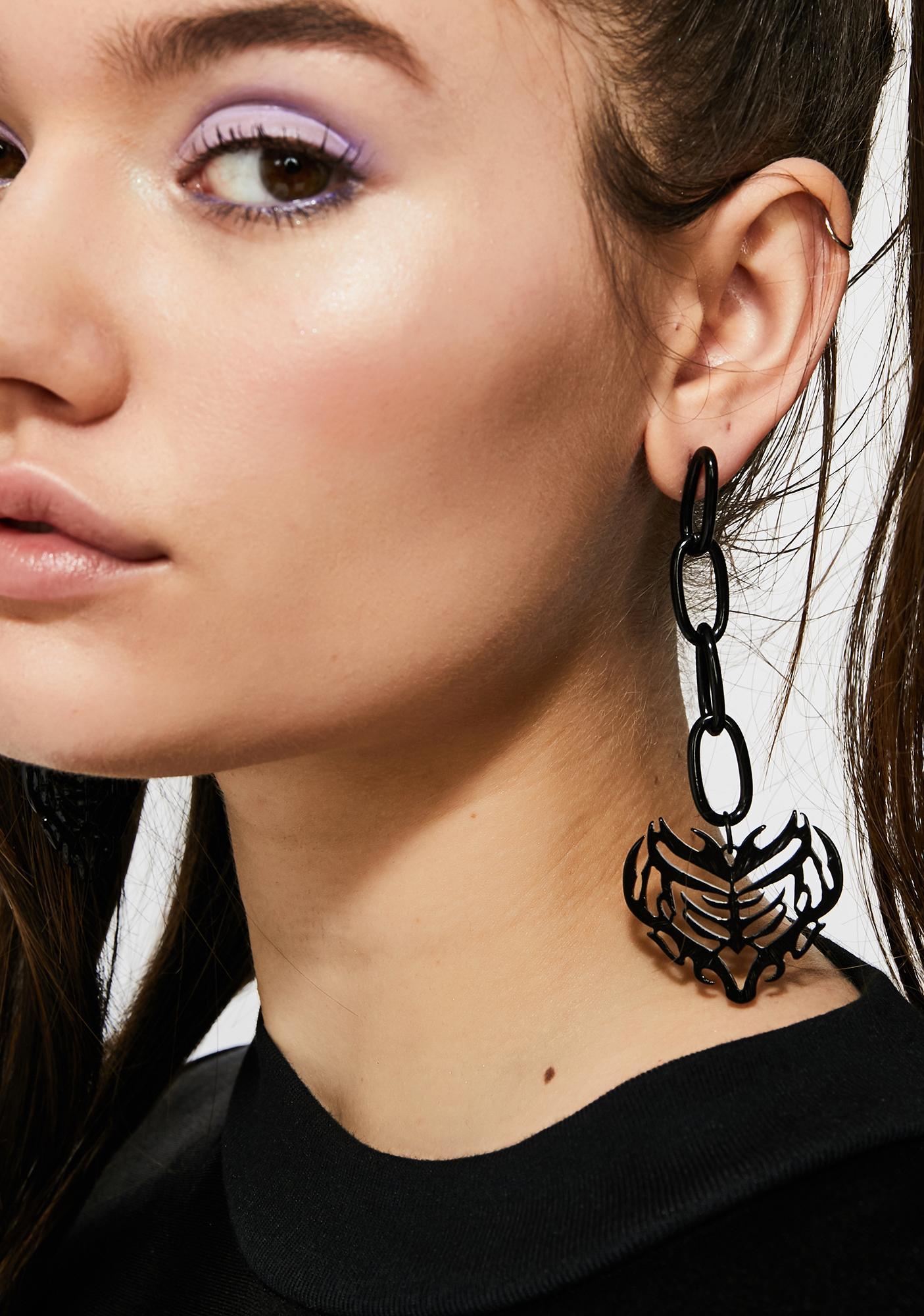 Underground Lover Chain Earrings