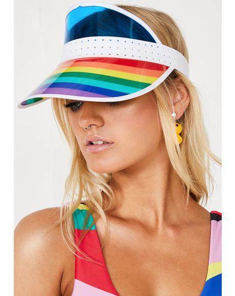 Poolside Dream Rainbow Visor