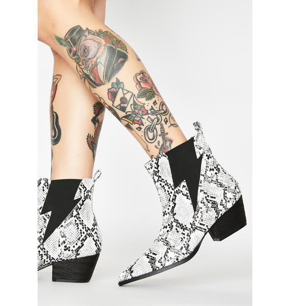 Public Desire Camden Snakeskin Boots