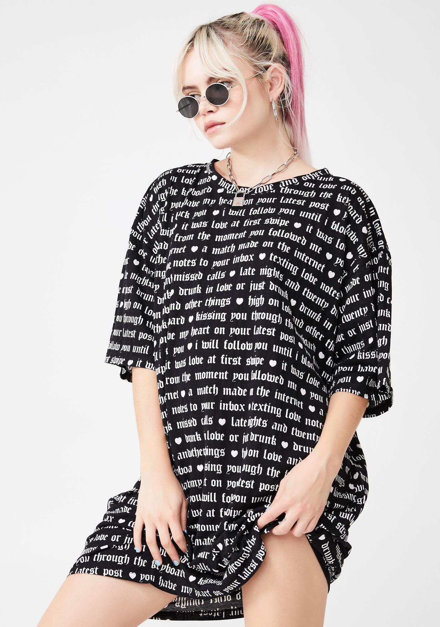 Motel Black Sunny Kiss Dress