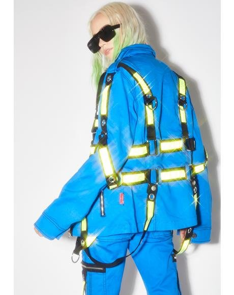 Blue Electric Reflective Jacket