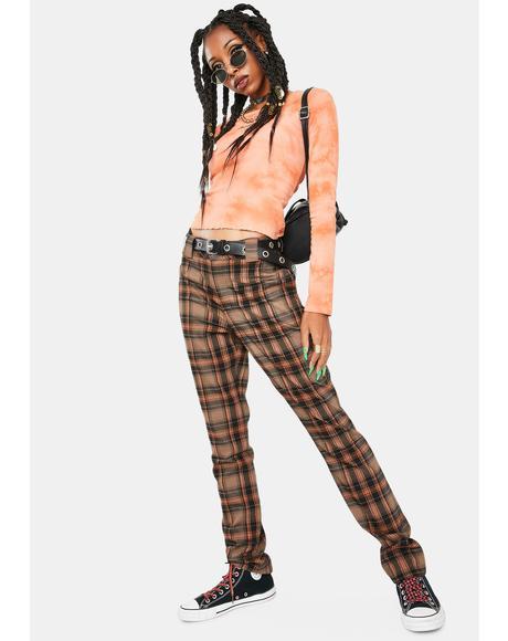 Auburn Black Plaid Pants