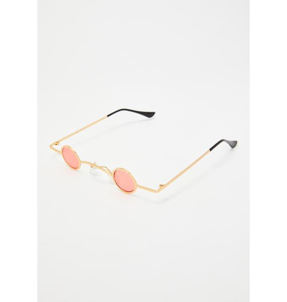 Replay Vintage Sunglasses Rose Sharp Eye Mini Sunglasses