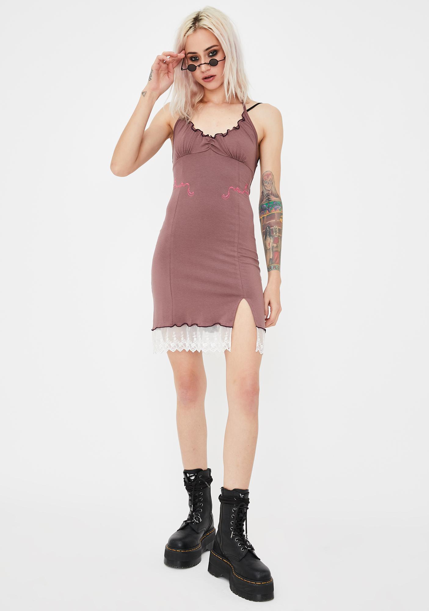 GANGYOUNG Tan XSX Mini Dress