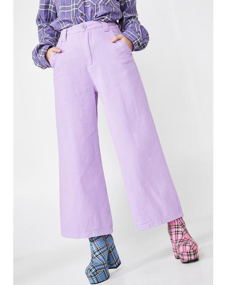LO Lilac Work Pants
