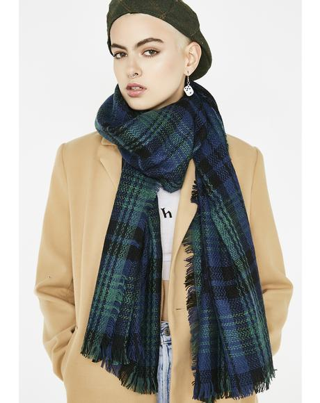 Brain Teaser Plaid Scarf