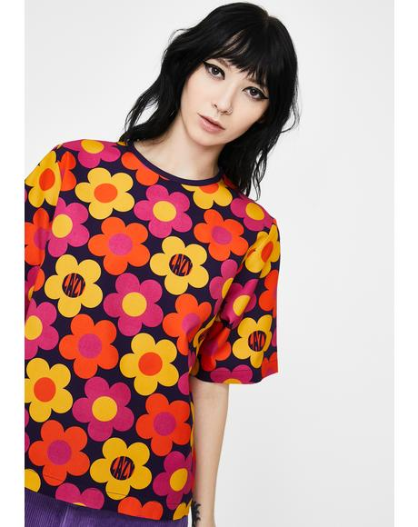 70s Floral Print T-Shirt