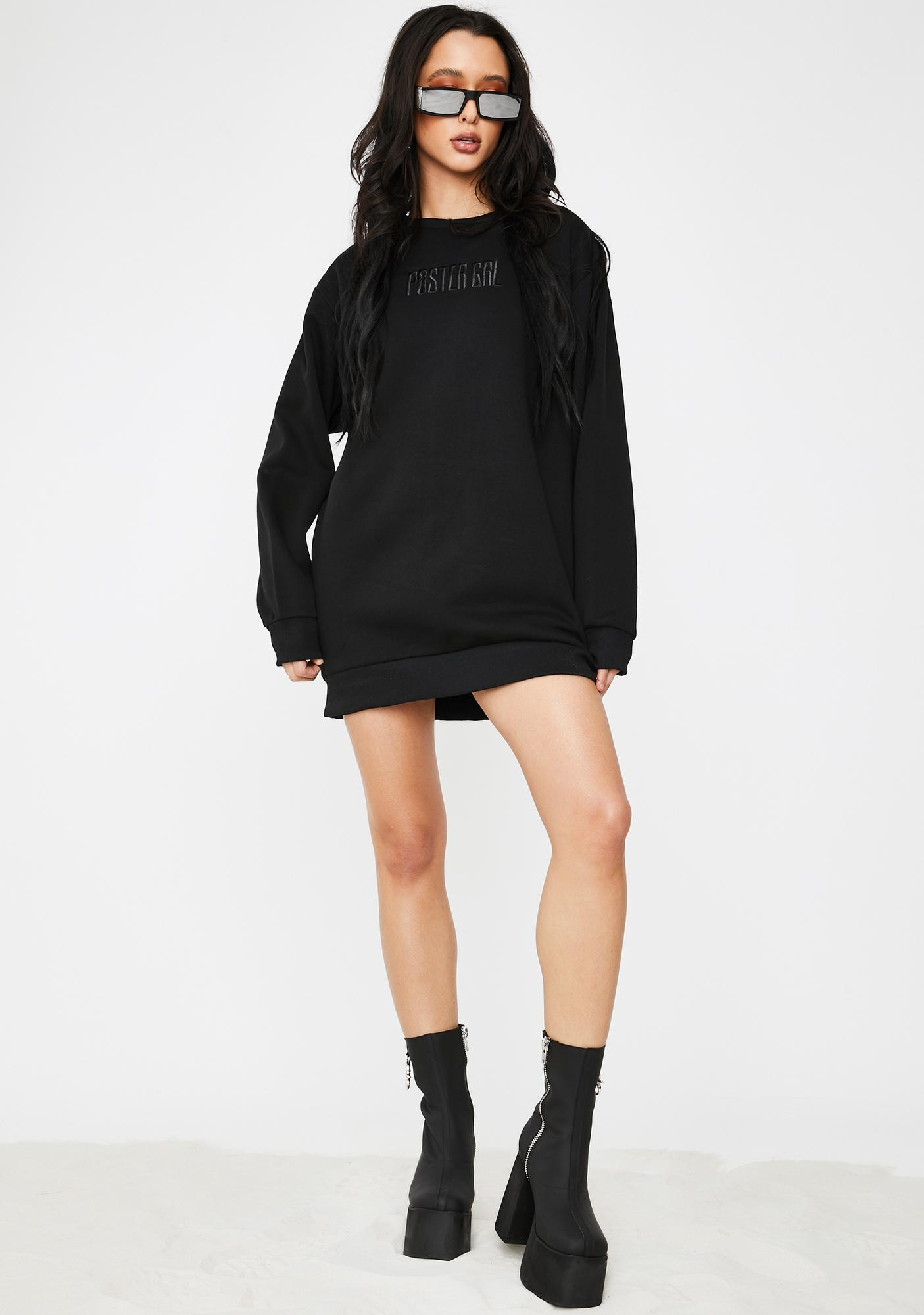 Poster Grl In Squad We Trust Sweater Dress