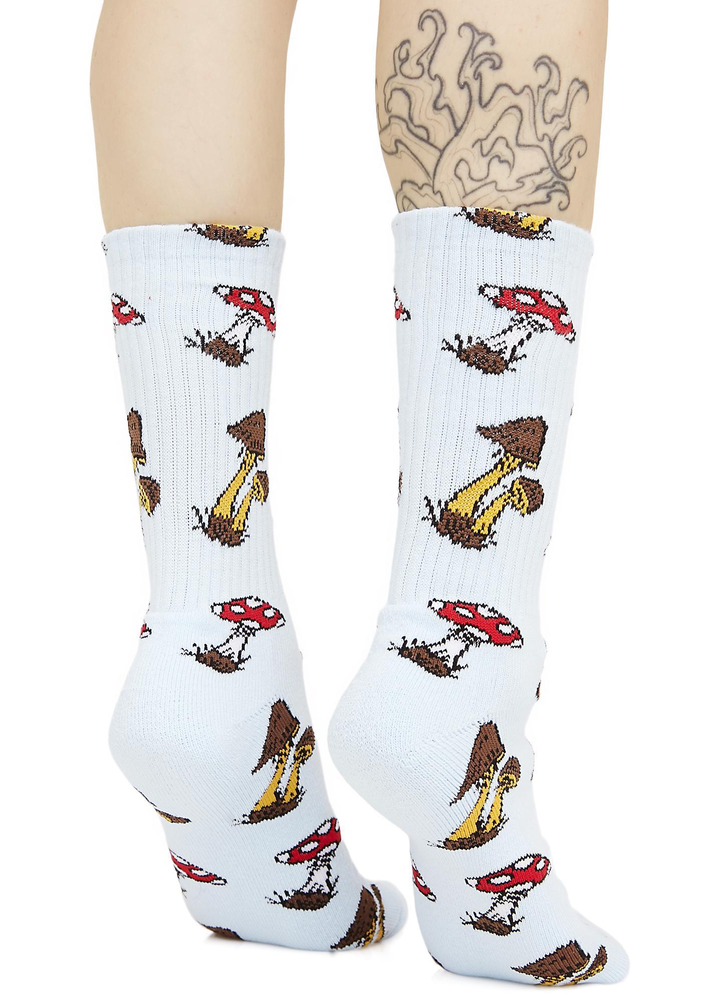 HUF Mushroom Cap Crew Socks
