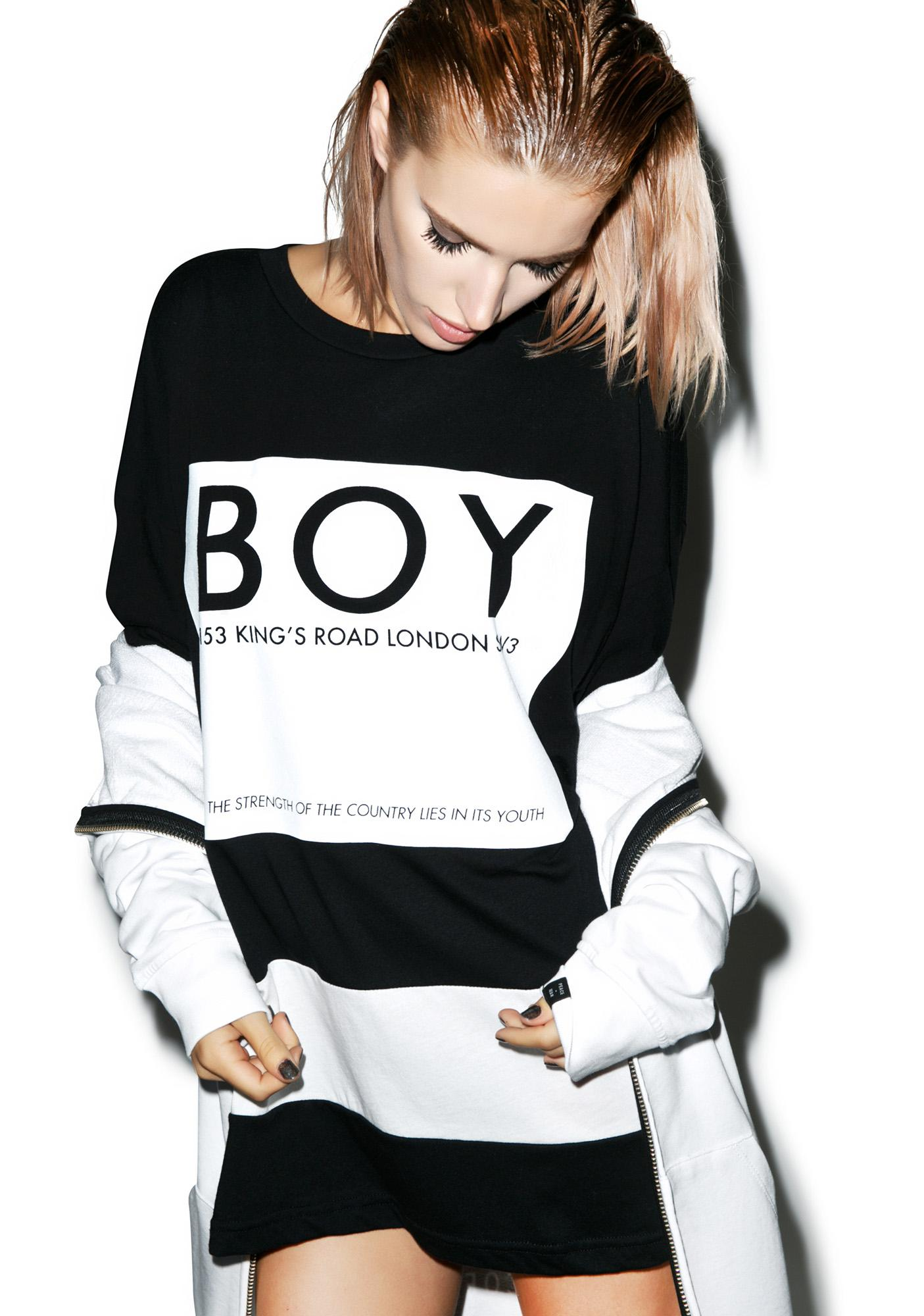 BOY London Kings Road Box Striped Top