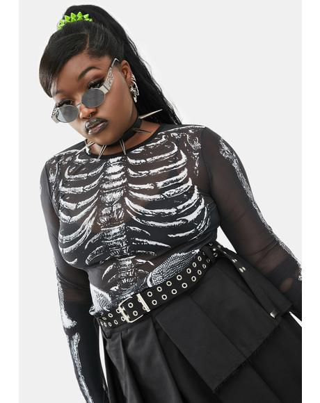 Wicked Boneyard Mesh Top