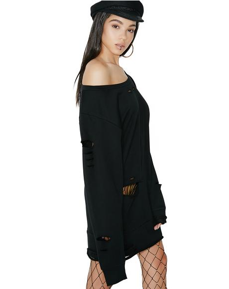 Fatale Flora Sweatshirt Dress
