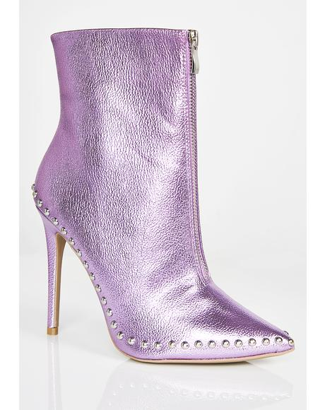 Amethyst Into The Abyss Studded Booties