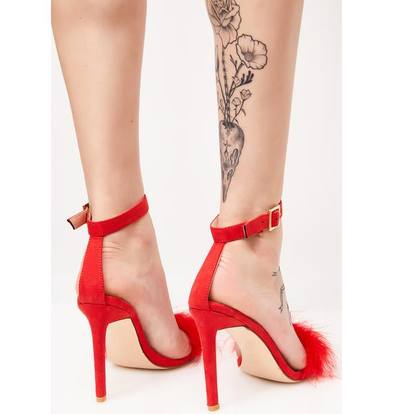 Public Desire Cherry Chemistry Feather Barely There Heels