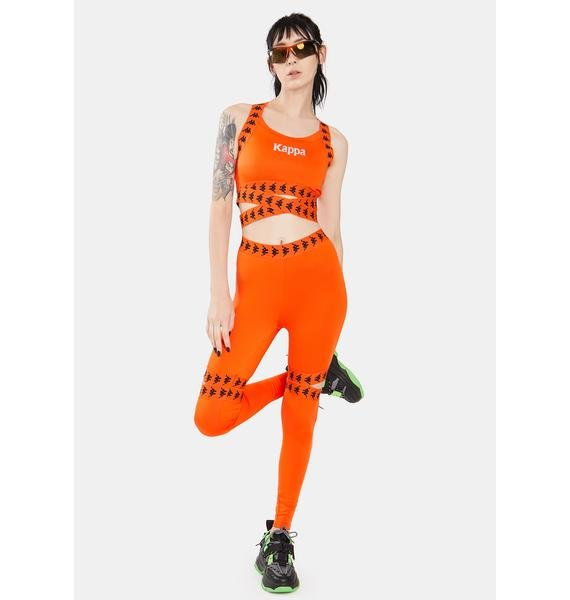 Kappa Orange 222 Banda Dosh Leggings