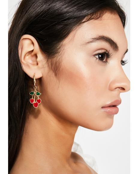 Love Sugar Cherry Earrings