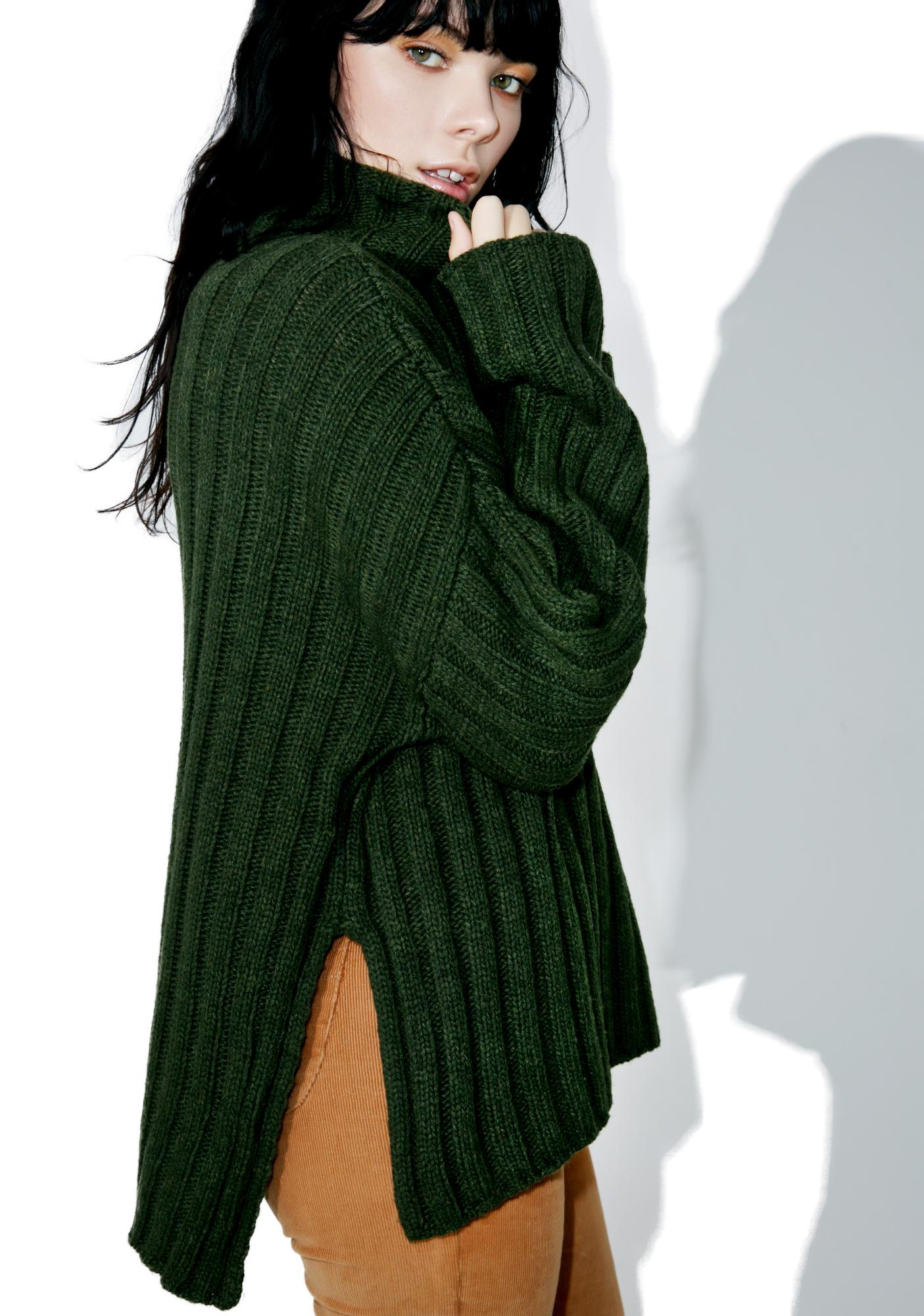 J.O.A Army Knit Sweater