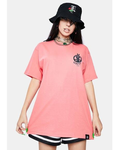 Coral Unity Short Sleeve Graphic Tee
