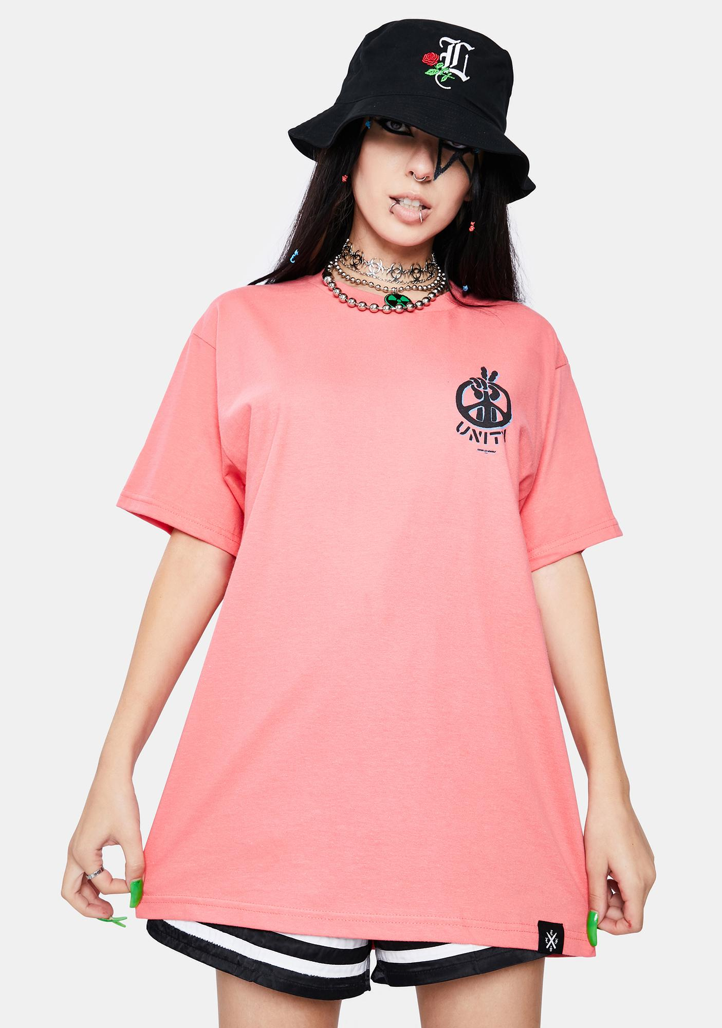 Learn To Forget Coral Unity Short Sleeve Graphic Tee