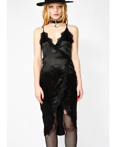Moonlight Seduction Satin Dress