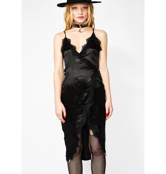 Moonlight Seduction Satin Dress