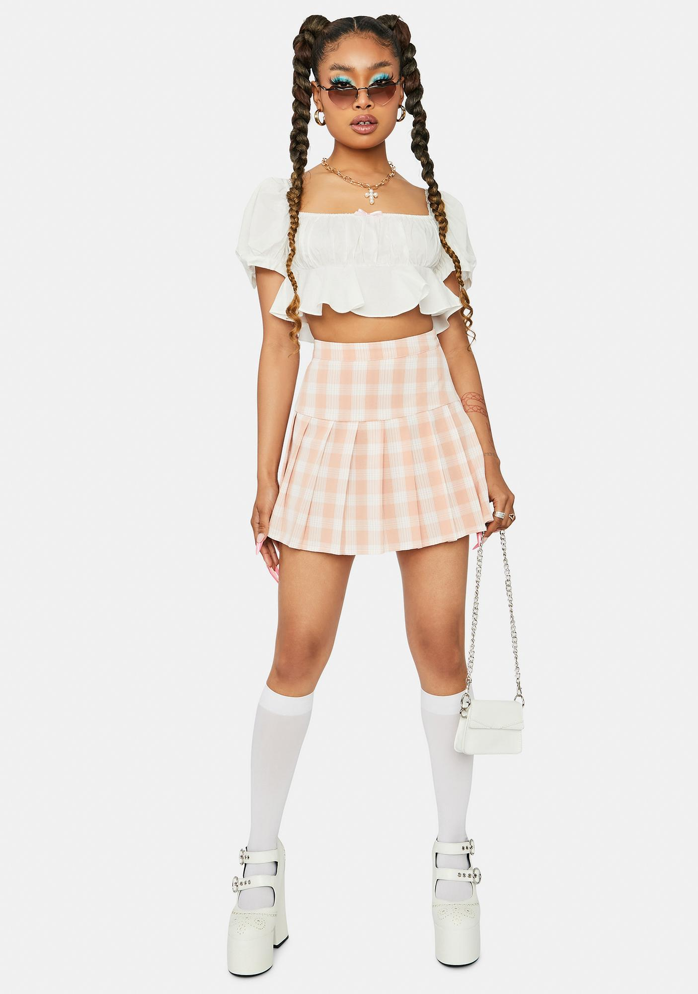 Pretty No Standing In My Way Pleated Skirt