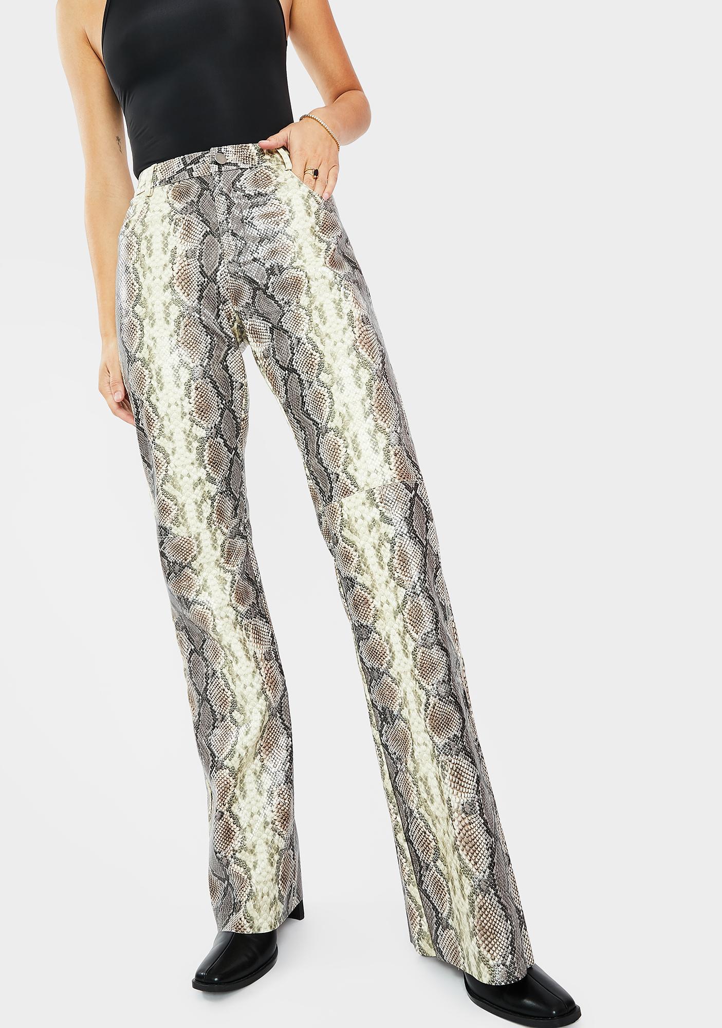 THE KRIPT Kelsey Snakeskin Print Pants