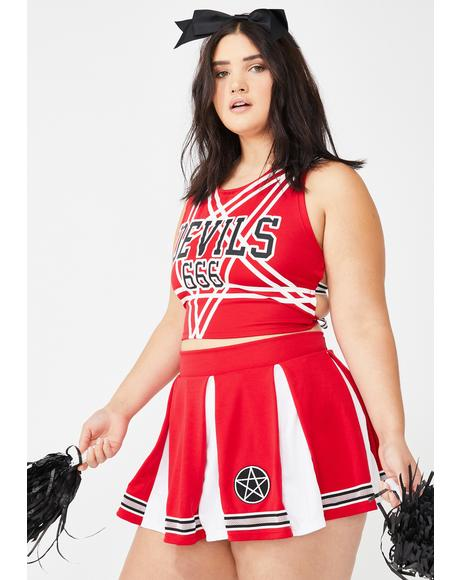 Satan's Coven Cheerleader Costume Set