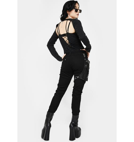 Devil Fashion Utility Bag Skinny Pants