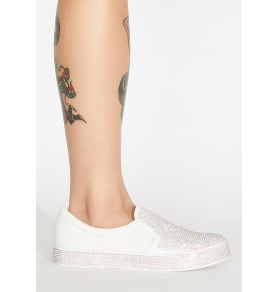 Frosted Bizarre Bling Slip On Sneakers