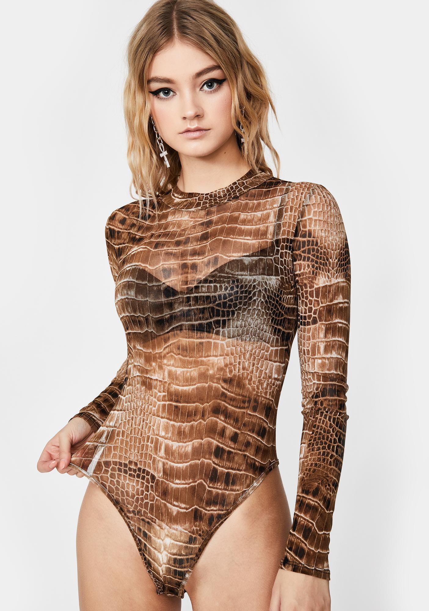 It's A Snap Crocodile Bodysuit