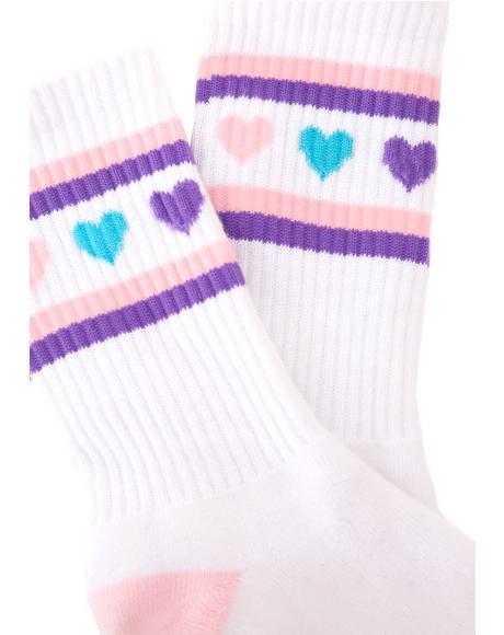 Pastel Romance Socks