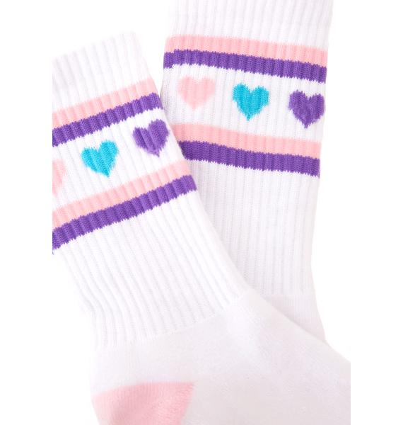 Lazy Oaf Pastel Romance Socks