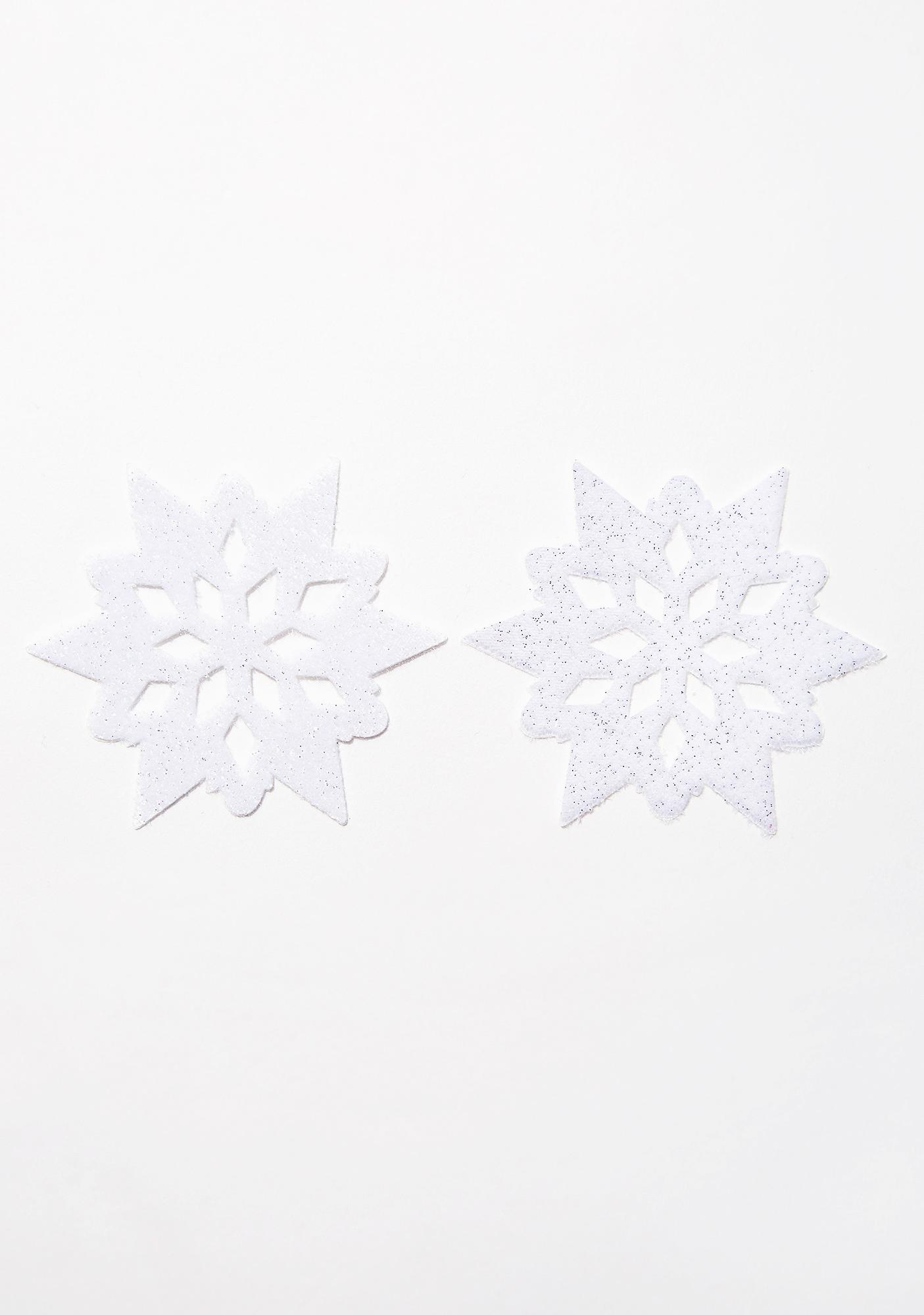 Pastease White Velvet Snowflake Pasties