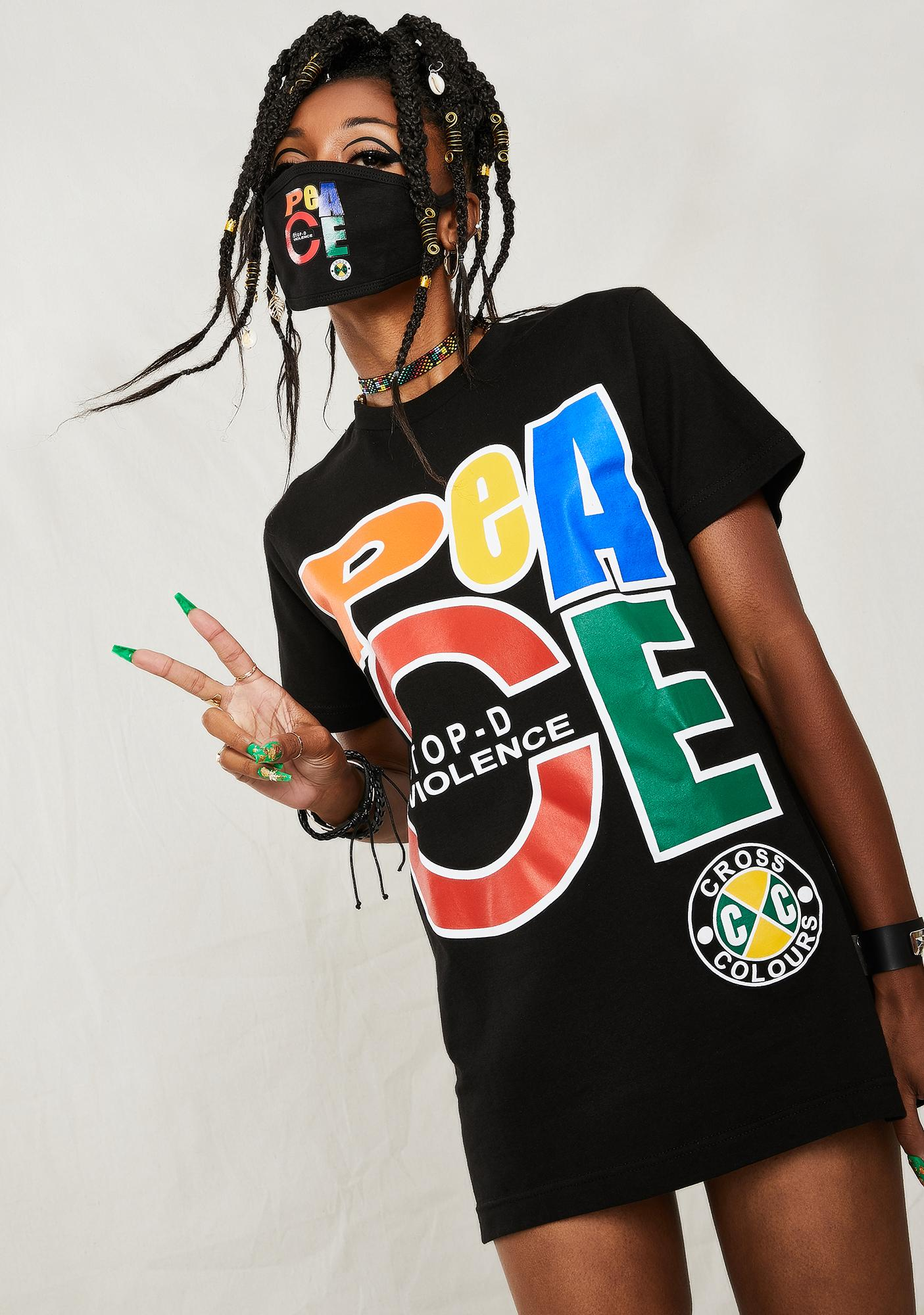 Cross Colours Peace Graphic T-Shirt