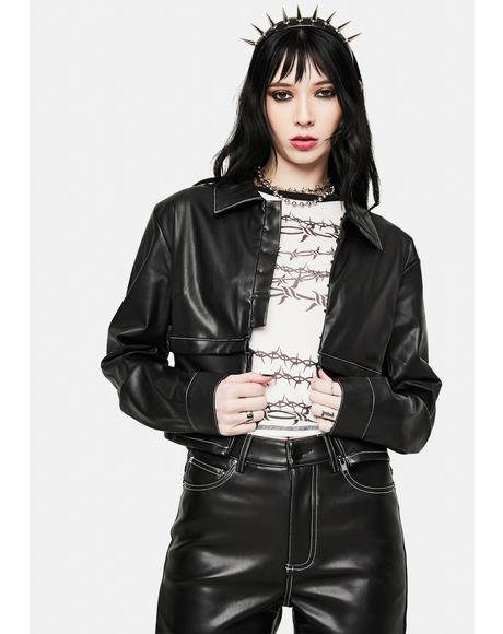 Detach Vegan Leather Jacket