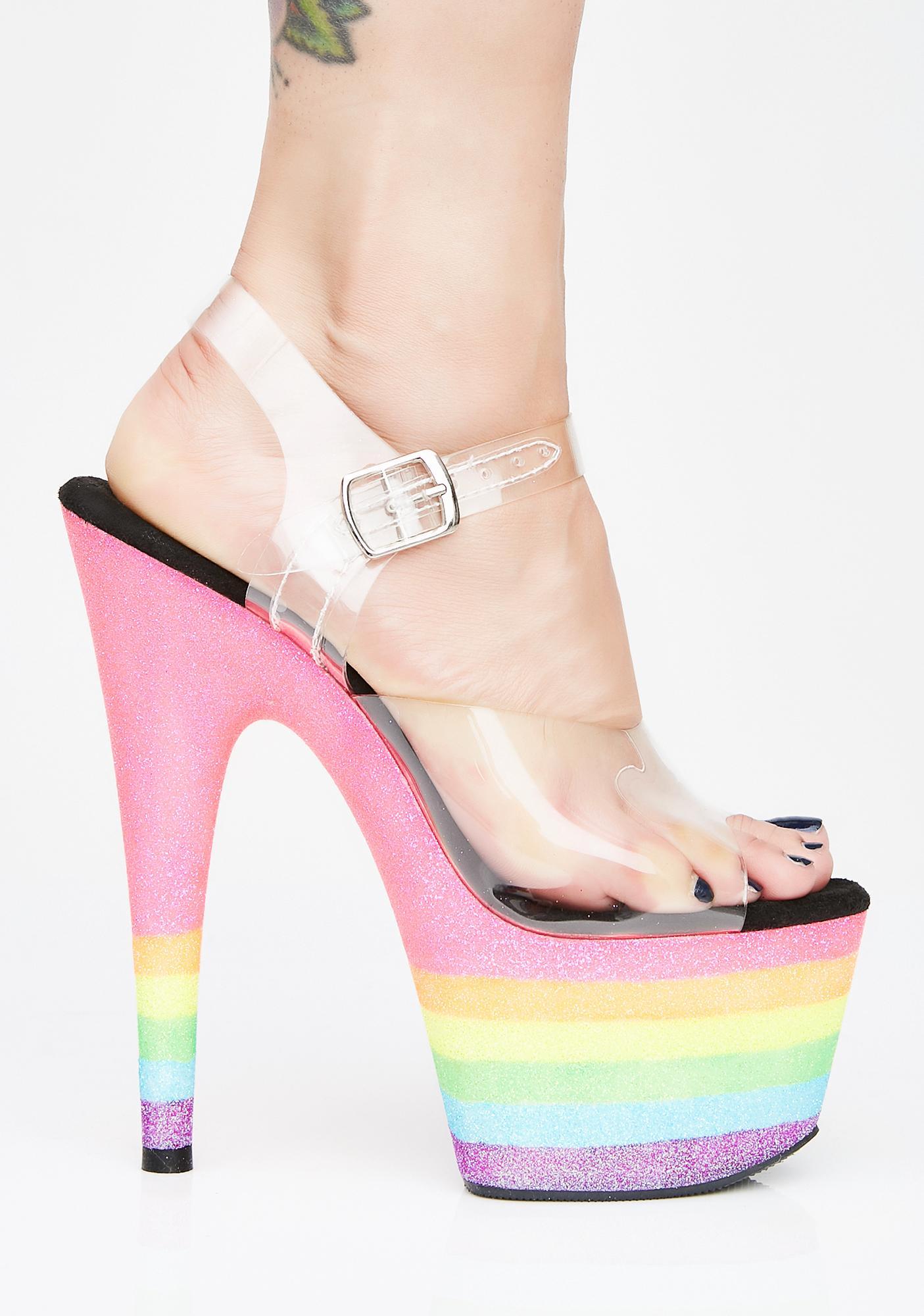 Pleaser Freaky Fembot UV Heels