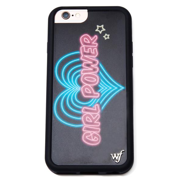 Wildflower Girl Power iPhone Case