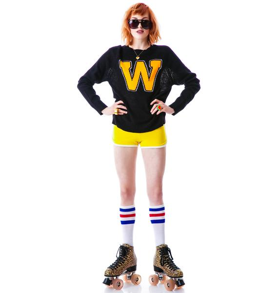 Wildfox Couture Roller Disco Mini 70's Sweater