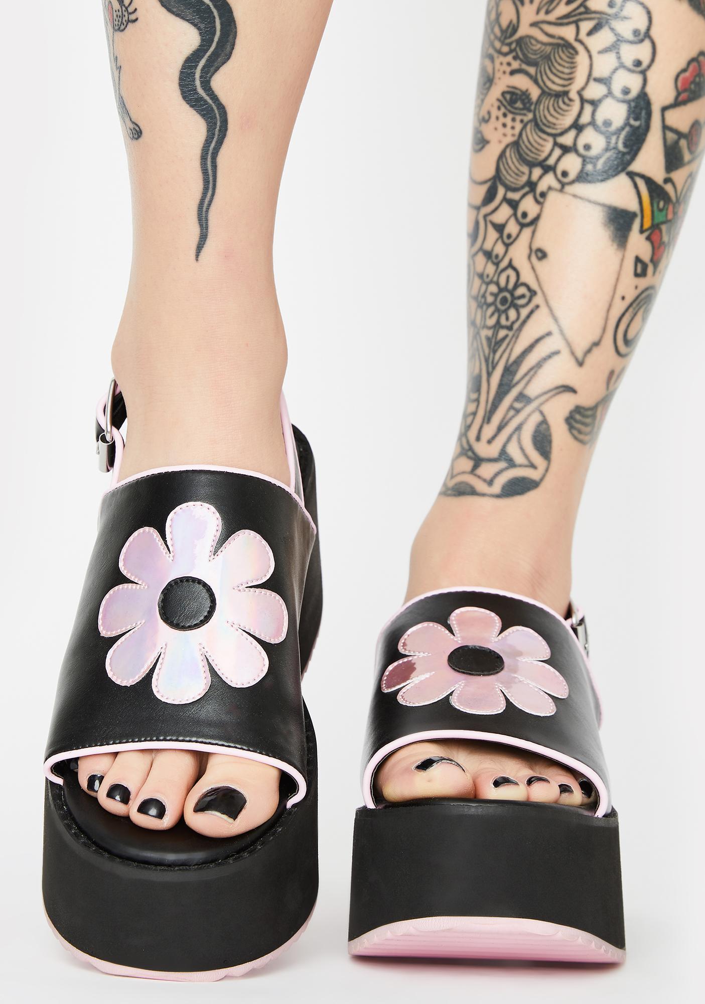 dELiA*s by Dolls Kill One Way Ticket Platform Sandals