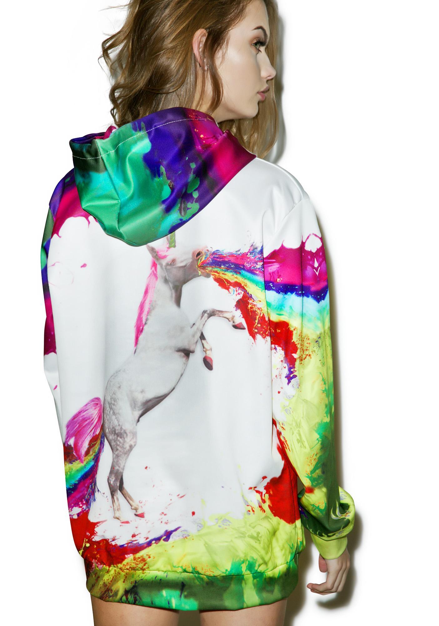 Unicorn Acid Oversized Hoodie