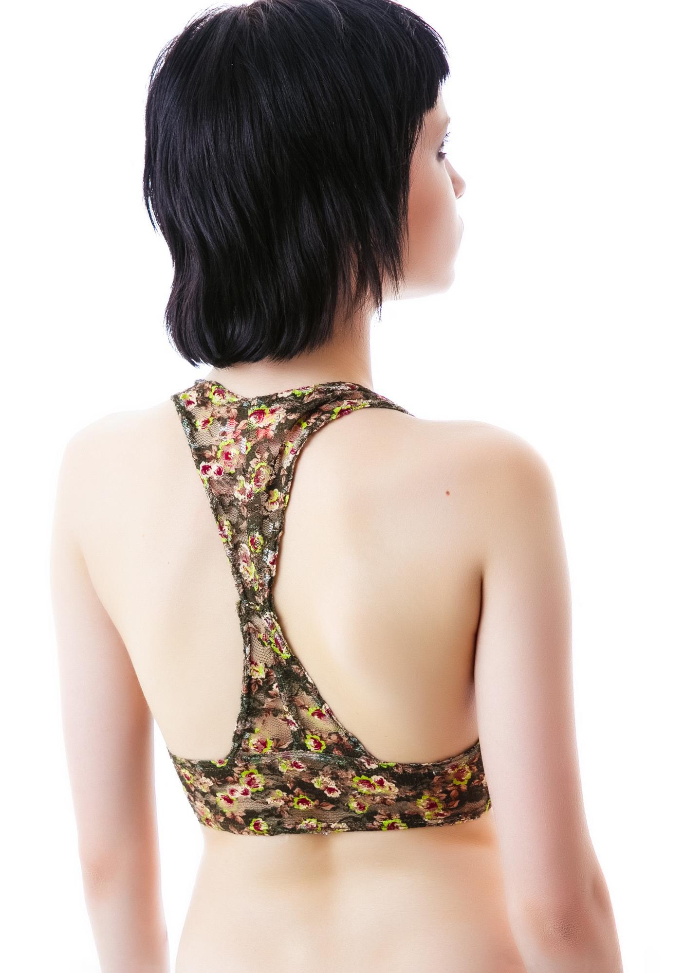 Floral Sex Lace Bralette