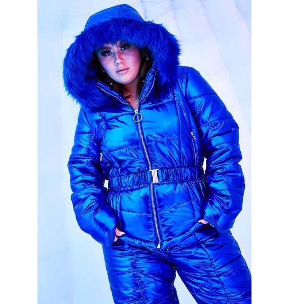 Club Exx Atomic Ambient Avalanche Metallic Snowsuit